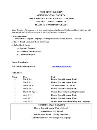 anadolu university open education faculty program in english