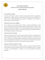 Uluslararası Ticaret Yüksek Lisans Ders İçerikleri