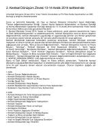2. Kentsel Dönüşüm Zirvesi 13-14 Aralık 2014