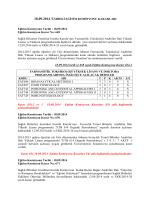 18.09.14 tarihli Eğitim Komisyonu Kararları
