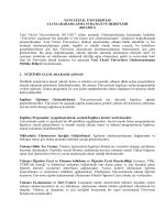 Uluslararasılaşma Strateji ve Hedefleri
