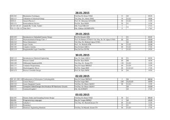 2014 Bahar Yarıyılı Bütünleme Sınav Programı
