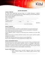 BAYİLİK SÖZLEŞMESİ - KDSLtech Bilişim Hizmetleri