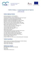 II. UDK Toplantı Raporu