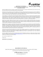 fax kapak sayfası - Işıklar Enerji Yapı Holding