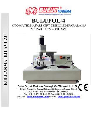 BULUPOL-4 - Bulut Makina Ltd.