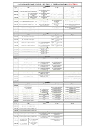 CBÜ. Malzeme Mühendisliği Bölümü 2014