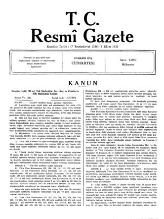 CUMARTESİ - Resmi Gazete