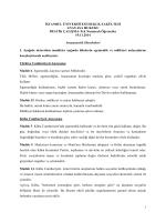 Pratik çalışma metni - İstanbul Üniversitesi | Hukuk Fakültesi