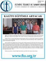 Sayı- 28 - Fethiye Ticaret ve Sanayi Odası