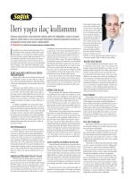 """""""İleri Yaşta İlaç Kullanımı"""", Cumhuriyet"""