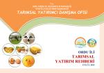 ordu - TC Gıda Tarım ve Hayvancılık Bakanlığı