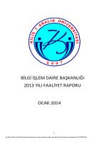 2013 Faaliyet Raporu - Bilgi İşlem Daire Bşk.