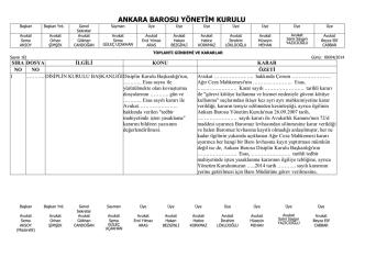 9 nisan 2014 tarihinde yapılan yönetim kurulu