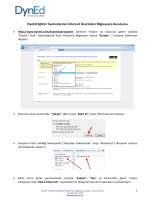 DynEd Eğitim Yazılımlarının İnternet Üzerinden Bilgisayara Kurulumu