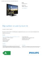 Product Leaflet: 24 inç Stüdyo LED Profesyonel LED TV