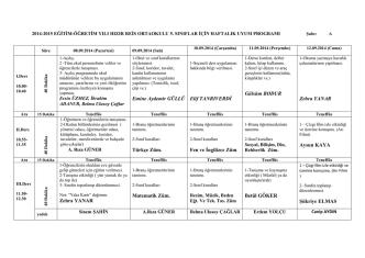 5. Sınıf Uyum Programı