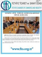 Sayı- 11 - Fethiye Ticaret ve Sanayi Odası
