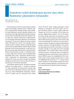 Statinlerin erektil disfonksiyon üzerine olan etkisi