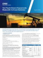Madencilik ve Enerji Sektorleri Teşvik Sistemi