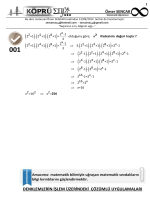 denklemlerin işlem üzerindeki çözümlü uygulamaları