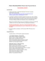 Makina Mühendisliği Bölümü Yüksek Lisans Programı Kılavuzu