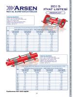 Kompansatörler Fiyat Listesi