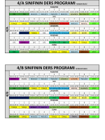 4.Siniflar ders programı
