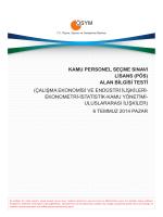 2014-KPSS Lisans