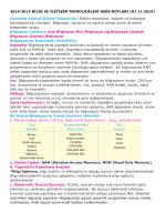 2014-2015 BĠLGĠ VE ĠLETĠġĠM TEKNOLOJĠLERĠ DERS
