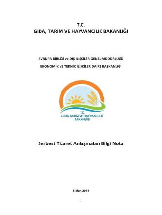 ABGM Güncel STA Raporu - TC Gıda Tarım ve Hayvancılık Bakanlığı