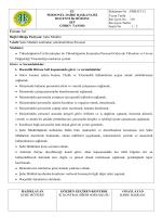 Görev Tanımı - İstanbul Üniversitesi | Personel Daire Başkanlığı