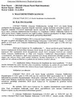 2013/65 (Siyasi Parti Mali Denetimi), K: 2014