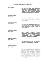 14.10.2014 TARİHLİ MECLİS KARARLARI Karar No. 438 Özü