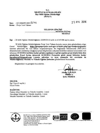 25 EYL 2014 - mersin - mezitli ilçe millî eğitim müdürlüğü