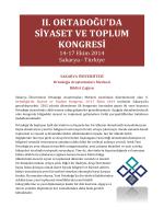Bildiri Çağrı Metni - Sakarya Üniversitesi