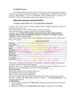 Yarışma şartnamesi ve Katılım Formu