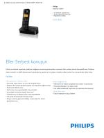 Product Leaflet: D205 Siyah Kablosuz telefon