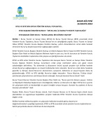 16.05.2014 BTB ve BTSO Ortak Akıl Yönetim Kurulu Toplantısı