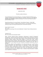BASIN BÜLTENİ Ülke Kriz Çeşitleri Konferansı George Washington