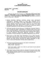 27.10.2014 Tarihli Toplantı Kararı (19 Nolu Karar)