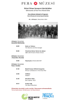 Birinci Dünya Savaşının Hatırlattıkları Memories of the First World War