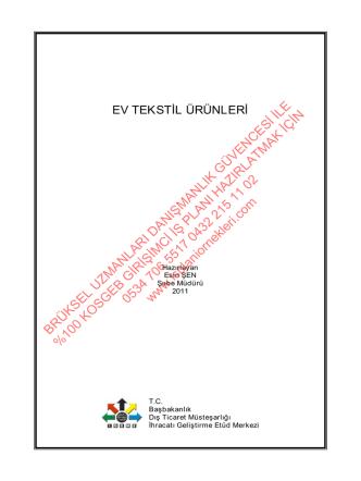 4-Ev tekstili imalatları KOSGEB Desteği alan iş planı örneği ücretsiz