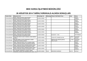 26 ağustos 2014 tarihli kırıkkale
