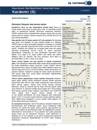 18/11/2014 - İş Yatırım