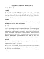 Senato 2013-41-8 YYÜ Burs Yönergesi