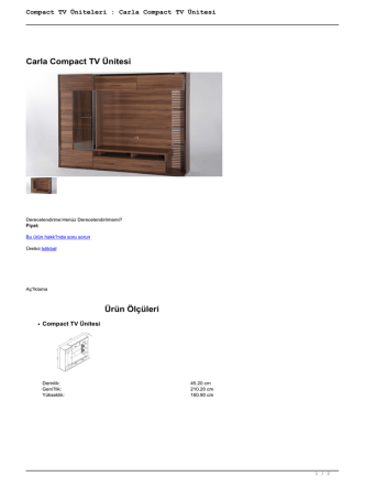 Compact TV Üniteleri : Carla Compact TV Ünitesi