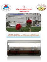 Fiyat Listesi - Ağrı İbrahim Çeçen Üniversitesi