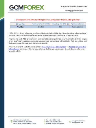 Araştırma & Analiz Departmanı