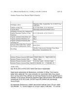 11.02.2015 Nitelikli Yatırımcılara Satılmak Üzere Bono İhraçlarının